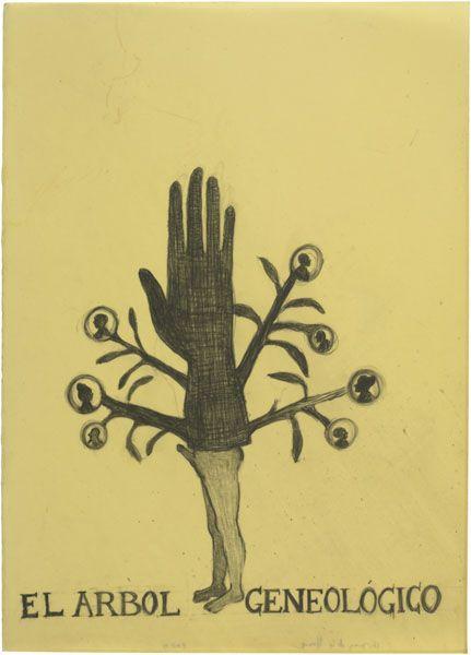 El Árbol geneológico | 2009 | Graphite on paper, waxed | 70 × 50 cm