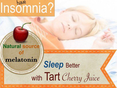 Studies have found the melatonin in tart cherry juice not only helps you fall asleep but also helps you stay asleep through morning.