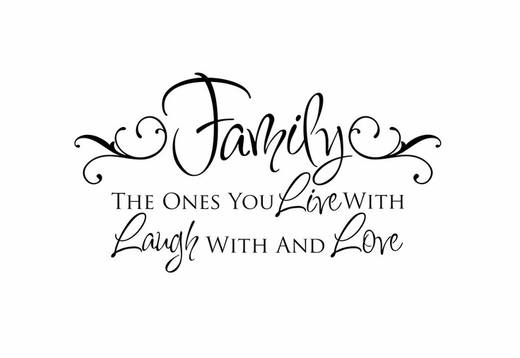 Foyer Art Quotes : Family vinyl wall decal live laugh love quote