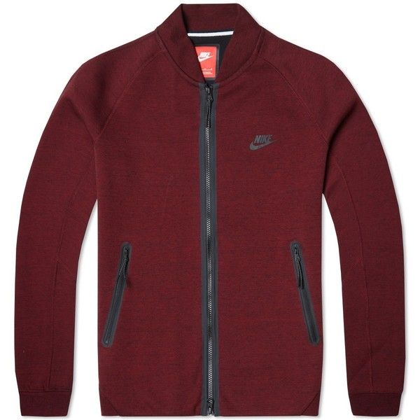 Nike Tech Varsity Jacket 1MM (€105) ❤ liked on Polyvore featuring men's fashion, men's clothing, men's activewear and men's activewear jackets