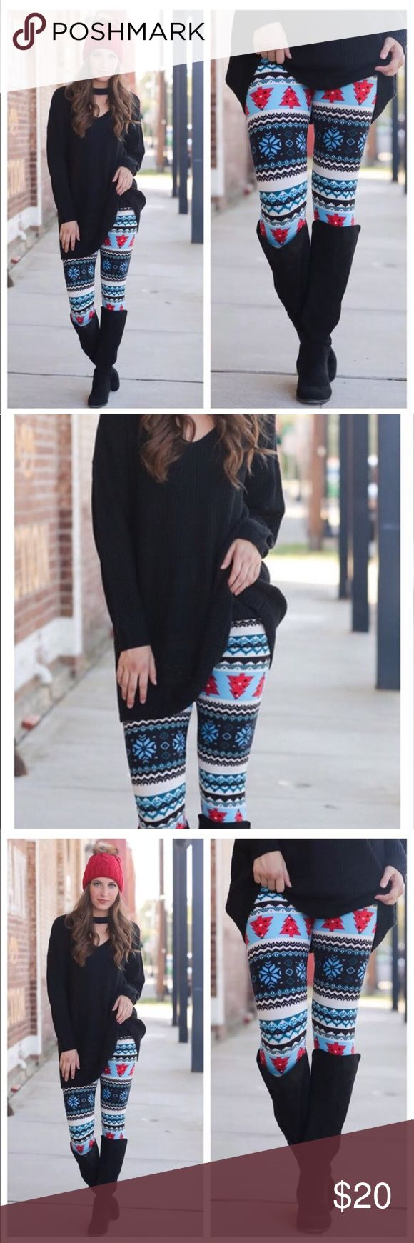 🌲Women's Buttery Soft Winter Holiday Leggings🌲 Adorable women's Winter Holiday Leggings are perfect for the time of year. Match them with any of the black tops in my closet. I have the Sweater Dress and Beanie Listed as well. These will work as festive holiday leggings and can be used as pajamas too. Made of 92% Polyester and 8% Spandex. O/S Fits 2-12 Comfortably. Only one pair left.🌲 Infinity Raine Pants Leggings