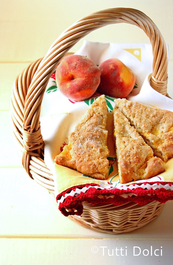 Browned Butter Peach Scones