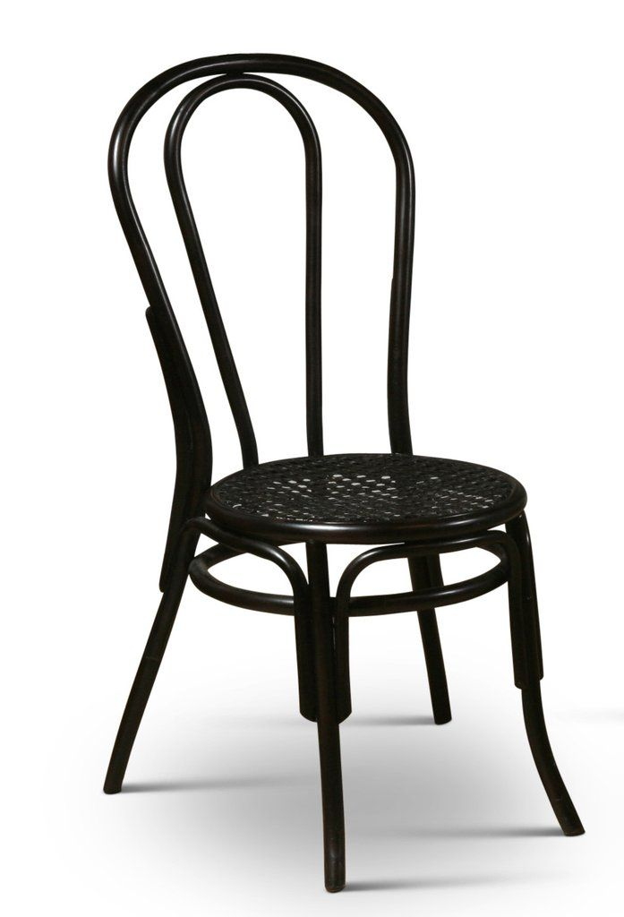 Thonet Style Bentwood Rattan Chairs In Black
