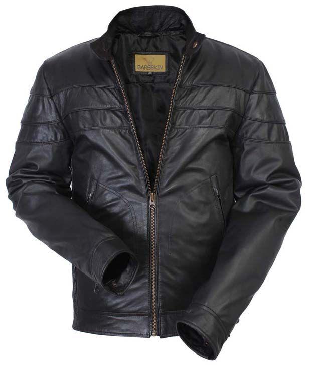 Bareskin New Black Leather Jacket for Men