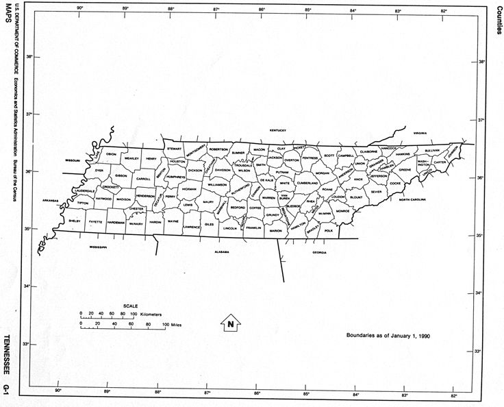 Best Vintage Tennessee County Maps Images On Pinterest - County map of tennessee