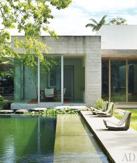 Chemical-free pool has fish  aquatic plants for purification; Isay Weinfeld