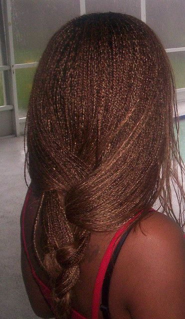 "Another pinner said: ""I've always loved micro braids but I don't have the patience to get them."" I think these are absolutely beautiful"