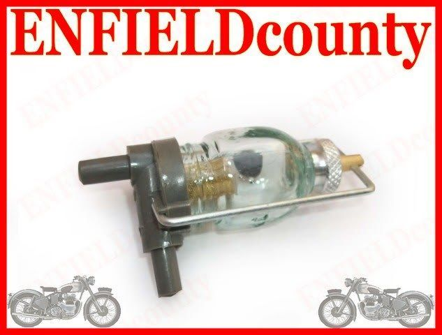 NEW ROYAL ENFIELD GLASS BOWL FUEL FILTER ENFIELDcounty