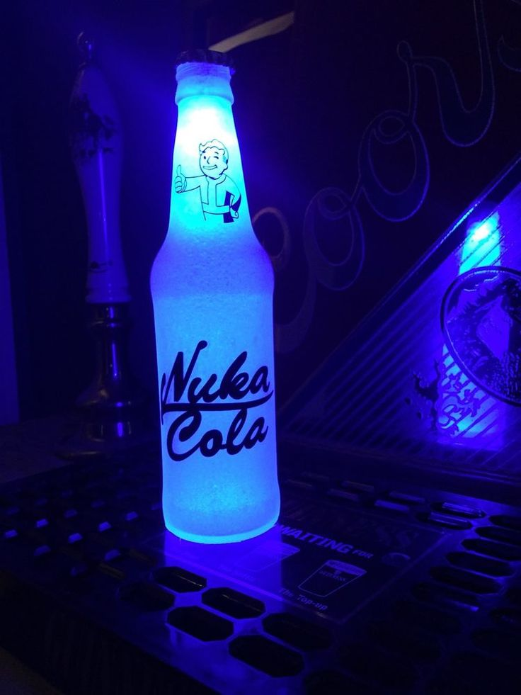 Fallout Nuka Cola Quantum 12 oz Beer Bottle Light LED Bar ...