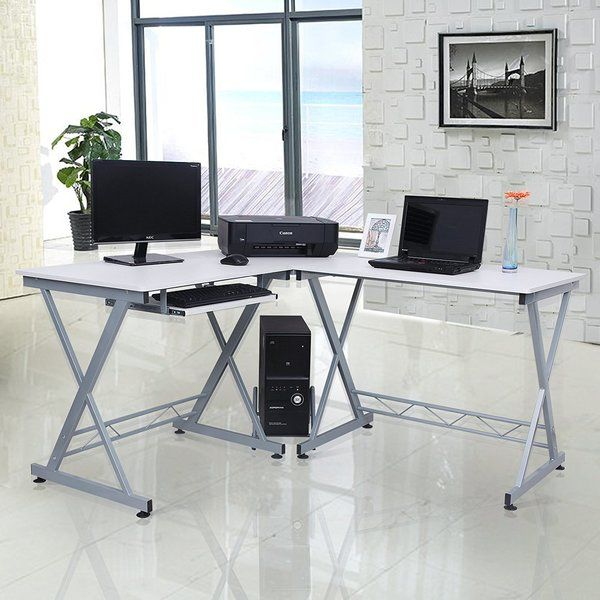 L Shaped Computer Desk Has The Features Of Popularity And Functionality It Has Simple And Elegant Line Home Office Furniture Corner Writing Desk Computer Desk