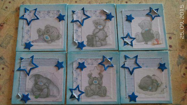 BellesCreations.gr: Small 6x6 teddy bears for child room