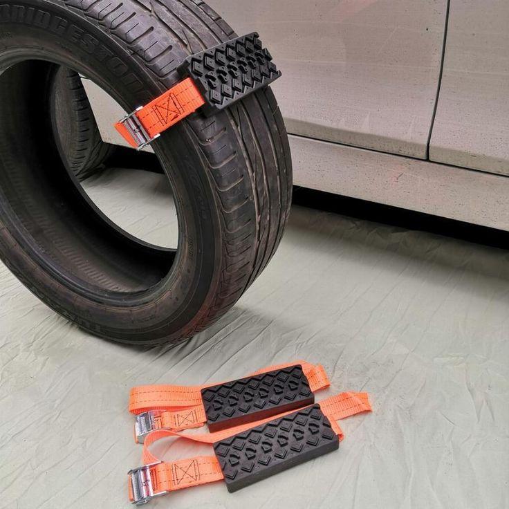 Antiskid tire block set of 2 tire mud truck accessories