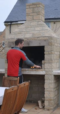 Built in Braii, ideally with some kind of work top to the side for preparing/storing food + beer!