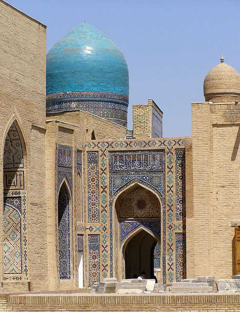 Samarqand (Uzbekistan) - Shah-i-Zinda by Danielzolli, via Flickr (Shah-i-Zinda necropole, one of main monuments in the ancient Uzbek city Samarkand.)