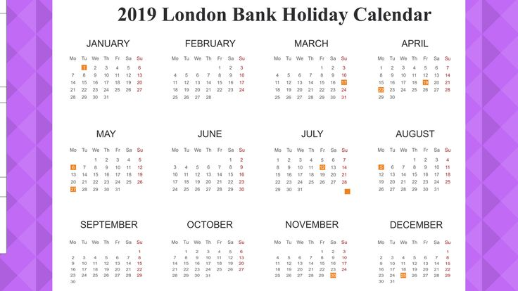 free bank holiday 2019 london template printable pdf excel
