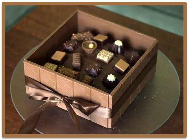 37 Best Chocolate Box Cake Images On Pinterest Gift Box