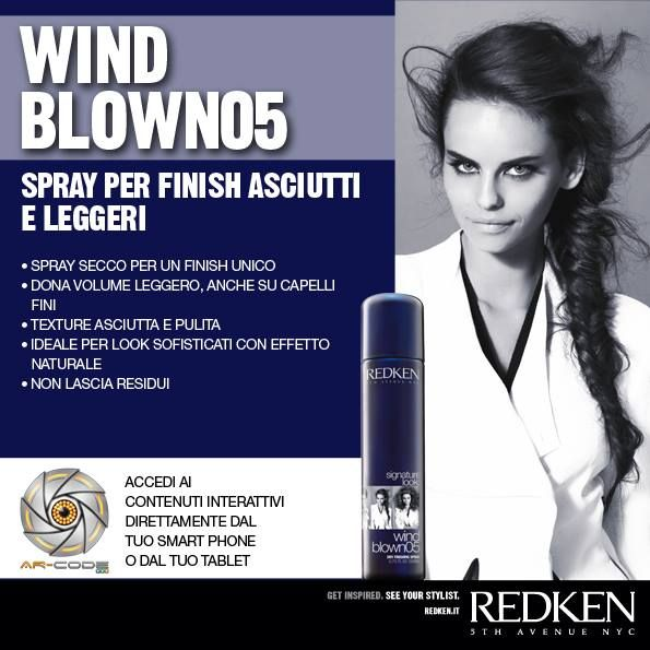 Redken Signature Look: Wind Blown 05 - Frame the image to access the Redken world.