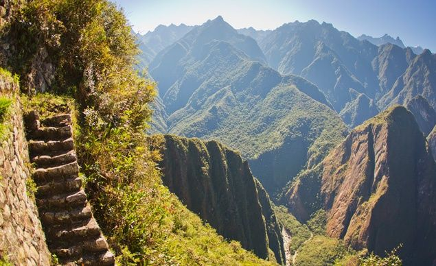 The Inca Trail....some day I will climb it to see Machu Pichu.