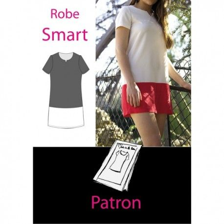 """Smart Dress"" sewing pattern - multicolored - Ma Petite Mercerie"
