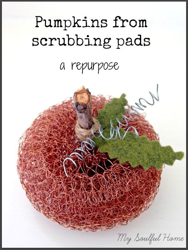 Pumpkins from scrub pads tutorial So easy & fun to make!