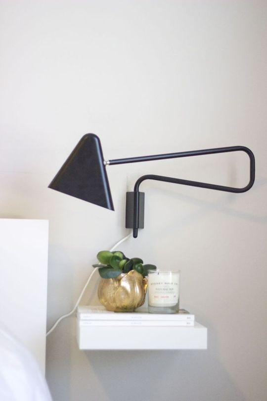 Best 25 wall mounted bedside table ideas on pinterest - Ikea bedroom solutions ...