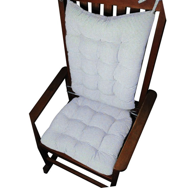 Madrid Lake Blue Gingham Rocking Chair Cushions | Rocking Chair ...: pinterest.com/pin/75224256254621452