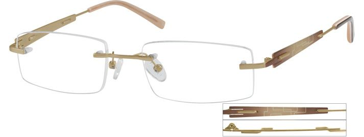 Order online, men gold rimless titanium eyeglass frames model #573014. Visit Zenni Optical today to browse our collection of glasses and sunglasses.
