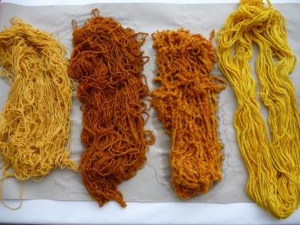 Hand dyed yarns: Dye Pots, Dyed Yarns, Dying Textiles, Craft Projects, Hand Dyed Yarn, Yummy Yarns