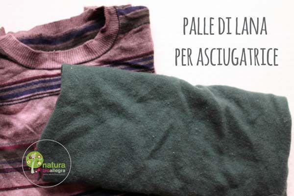 Palle di lana per asciugatrice