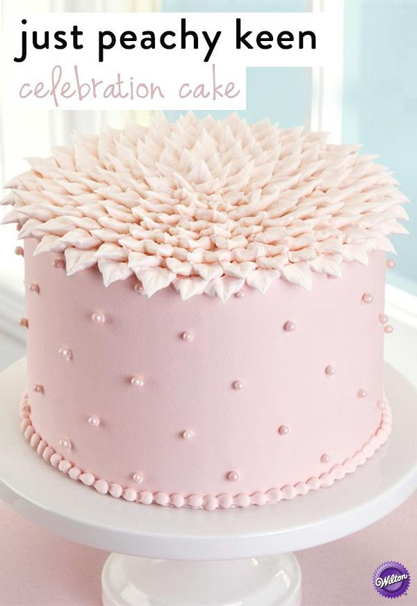 Make this sweet-looking cake for Mom on Mother's Day! The top of the cake is decorated in overlapping piped leaves, which gives it a fun look! Also perfect for birthdays, anniversaries or any special occasion.