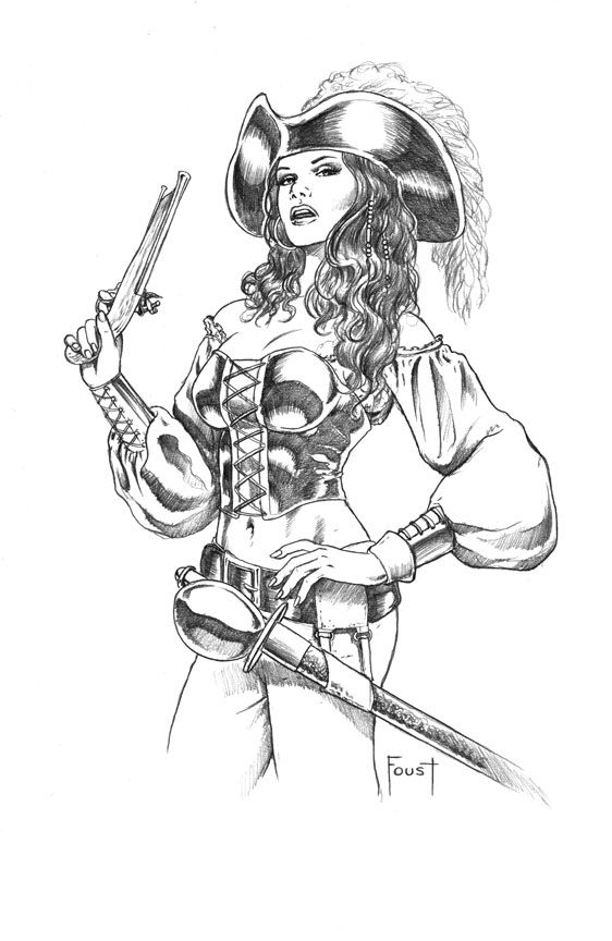 Pirate Woman by *MitchFoust on deviantART