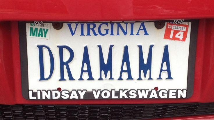 Drama Mama funny license plate Zeckford.com #ZeckFord
