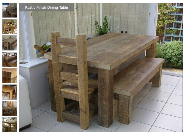 Lovely chunky wooden furniture