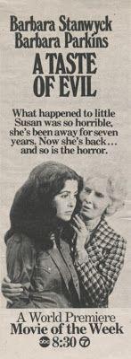 Home for Holidays (1972) Sally Field, Eleanor Parker & A Taste of Evil (1971) Barbara Stanwyck, Barbara Parkins DVD
