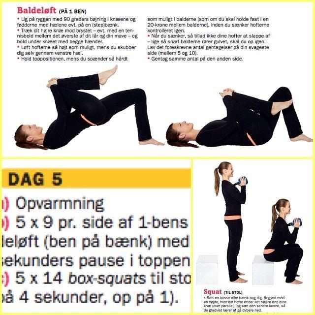 [Dag 5] #21dagebaldebootcamp  a) 5x9 pr side af 1 bens baldeløft (ben på bænk) med 5 sek pause i toppen b) 5x14 squat til stol  (ned på 4 sek. op på 1) HUSK at holde pauser mellem øvelsesrunder!