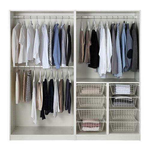 Ikea PAX system Combinations including interior organisers ...