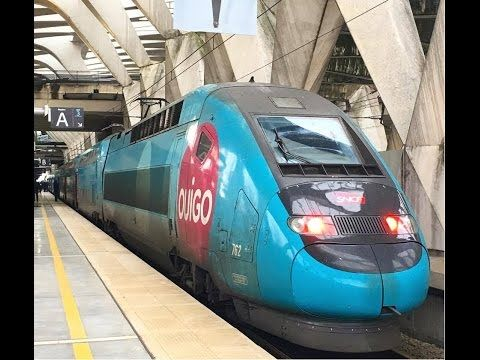High speed Train, TGV, Eurostar, OUIGO in France - YouTube