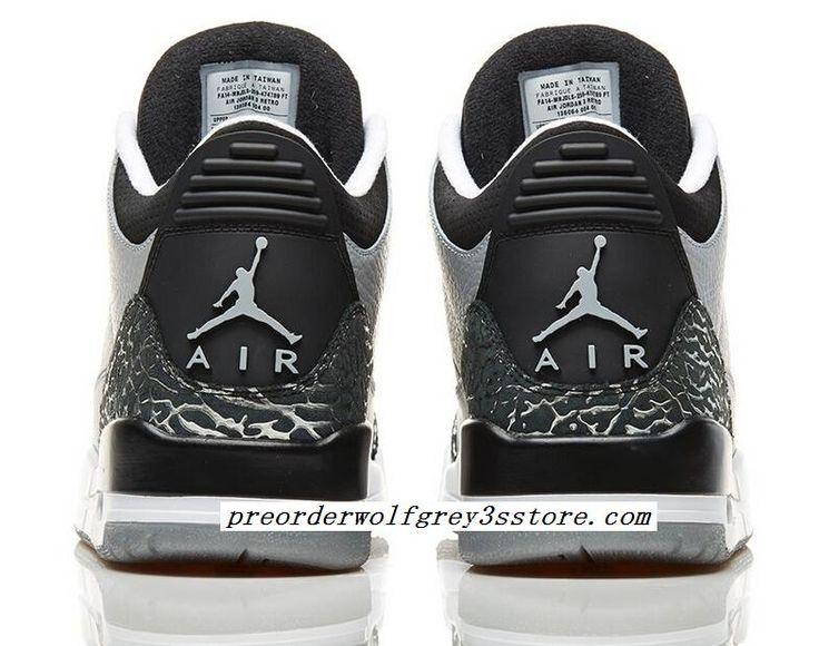 original air jordan retro 3s wolf grey kicks full size for sale