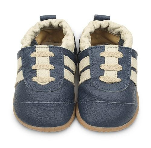 Navy Cream Boys Trainers  www.shooshoosuk.com