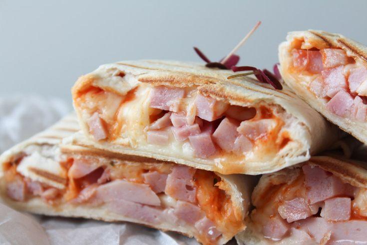 Ham Pizza Inspired Wraps | One Kitchen - A Thousand Ideas