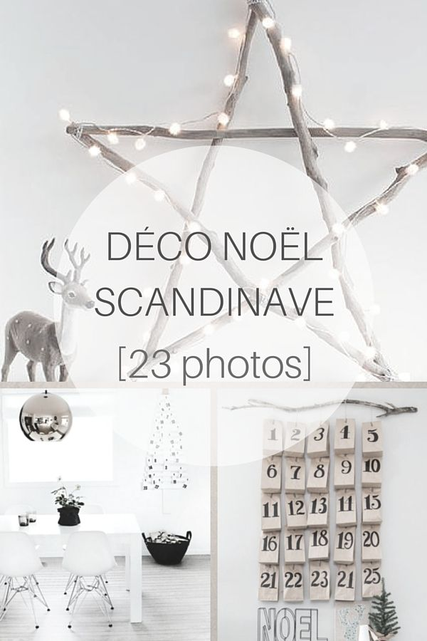 Déco Noël Scandinave : inspirations & idées (23 PHOTOS) >> http://www.homelisty.com/deco-noel-scandinave-inspirations-idees-23-photos/