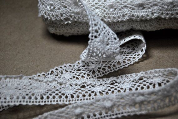 Vintage Lace White 2 cm/078 Wide by VintageParsel on Etsy