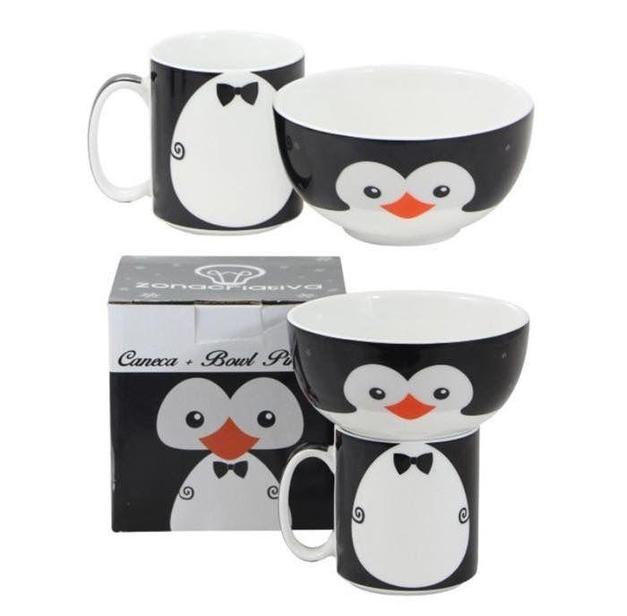Esse lindo conjunto com uma caneca e um bowl de pinguim fará toda a diferença na hora do seu café. 🐧☕️  Disponível em: www.ivyshop.com.br  #caneca #canecas #bowl #tigela #pinguim #cozinha #criativos #presentes #fofurices #caseirices #copos #geek #Xícara #amigosecreto #namorados #ivyshop