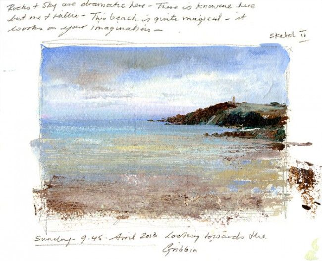 Amanda-Hoskin Prints - Pages from the Sketchbook- The Beach at Menabilly
