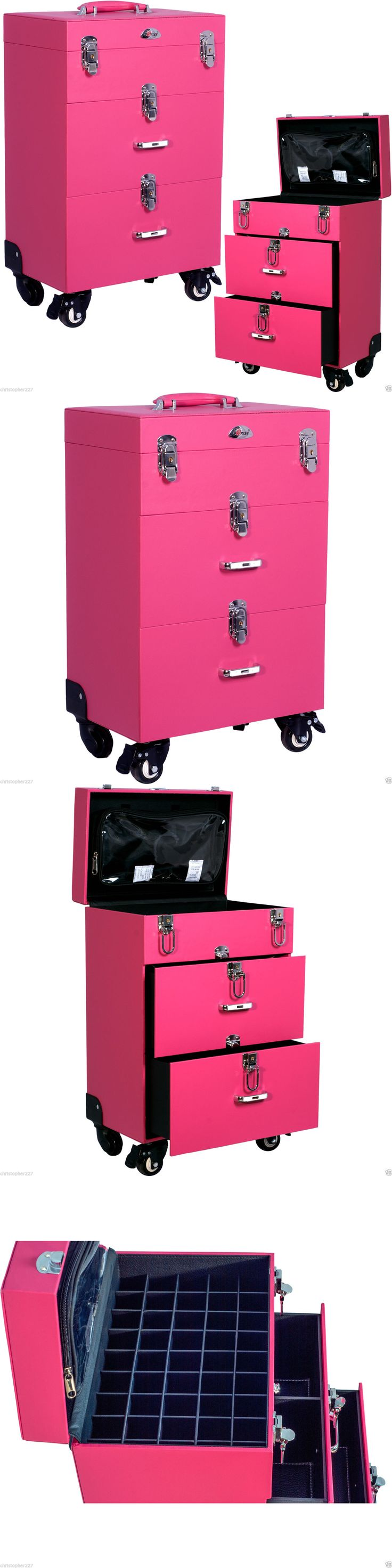 Nail Art Accessories: Professional Opi Nail Polish Manicure Makeup Trolley Case Box Organizers Storage -> BUY IT NOW ONLY: $199.99 on eBay!