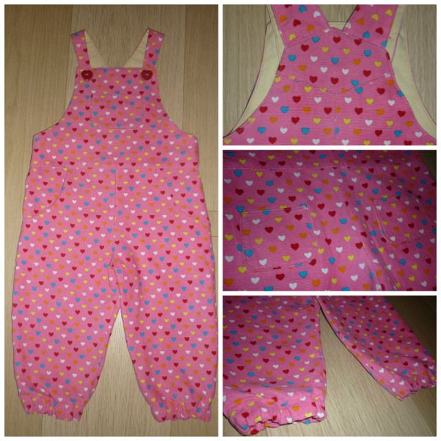 Cute toddler dungarees (link to free pattern)