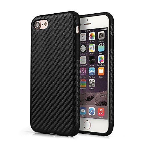 PhoneStar Schutzhülle iPhone 7 Design TPU Carbon Hülle Case - schwarz. #beaphonestar #phonestar #blackstyle #casual