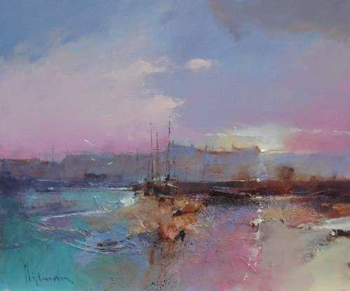 Sunset Moorings by Peter Wileman PPROI RSMA EAGMA FRSA