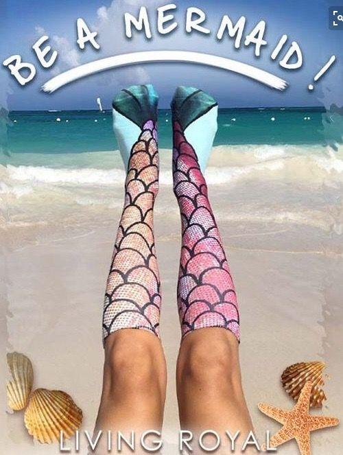 Всплеск модели в Европе и Америке 3D печатает чулки хотите Amazon питания Русалки носки - глобальной станции Taobao