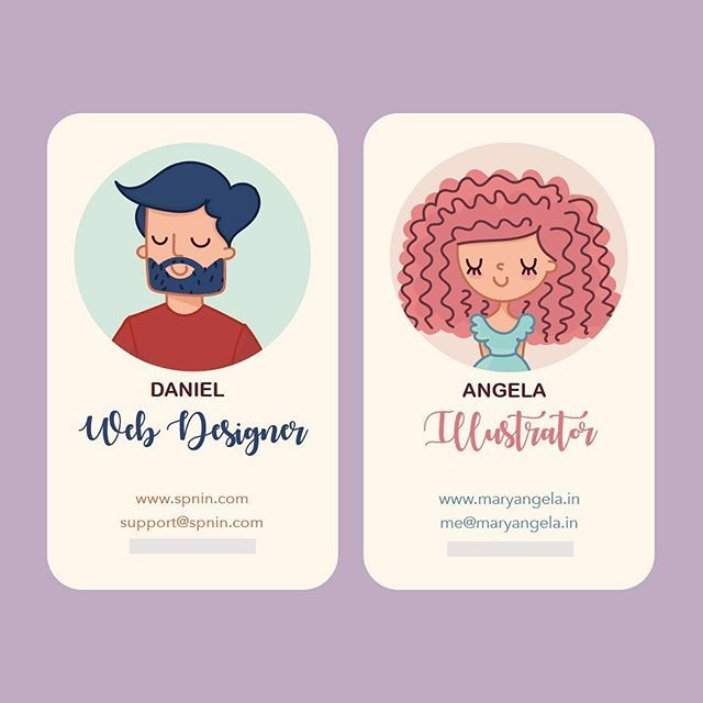 Yep! I ran out of Business Cards. So I thought, why not design a new one!? You know me.  Looking to draw everyday for no reason at all. I've created my husband's details on one side and mine on the other. He meets way more people than I do. Obviously. So everyone he runs into is gonna have my details on hand too. Yay! Such a win-win!